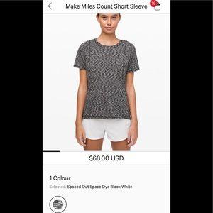 Lululemon make miles count short sleeve